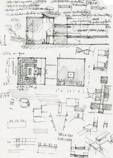 Fernando Távora, Escola de Arquitectura da Universidade do Minho, Esquissos da sala de desenho, s.d., s.e. A4. FIMS/FT/0194 A -pd0002