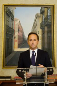 Fernando Medina, presidente da Câmara Municipal de Lisboa, anuncia medidas extraordinárias a 25 de Março 2020