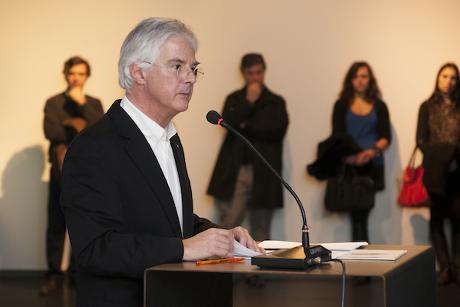 João Santa-Rita no momento do seu discurso de tomada de posse