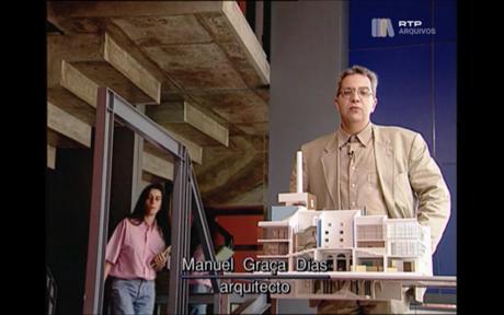 Fotograma do documentário Distinguir Arquitectura e Construção, 1992